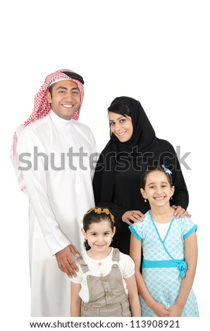 Arab Family - stock photo