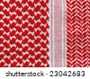 Arab Keffiyeh pattern closeup. More of this motif in my port. - stock photo