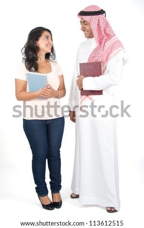 Arab Students - stock photo