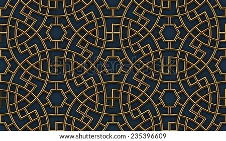 Arabesque Seamless Circular Pattern - stock photo