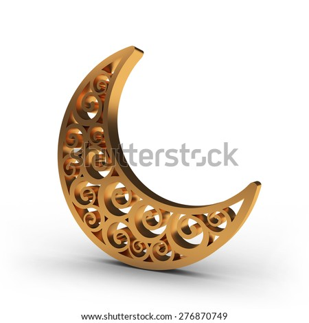 Arabesque Swirl Moon  - stock photo