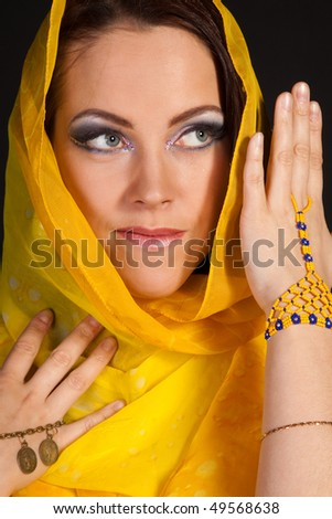 Arabian beautiful woman. Close up.
