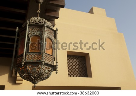 Arabian Fort in Ras al Khaimah Dubai and Abu Dhabi - stock photo