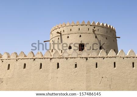 arabian fortress in al ain united arab emirates - stock photo