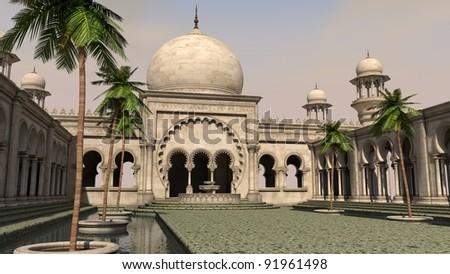 arabian palace - stock photo