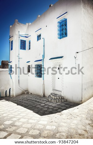 Arabian street - stock photo