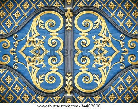 Arabian style decor. More of this motif & more textures in my port. - stock photo
