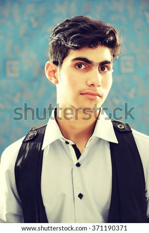 Arabian teenager - stock photo