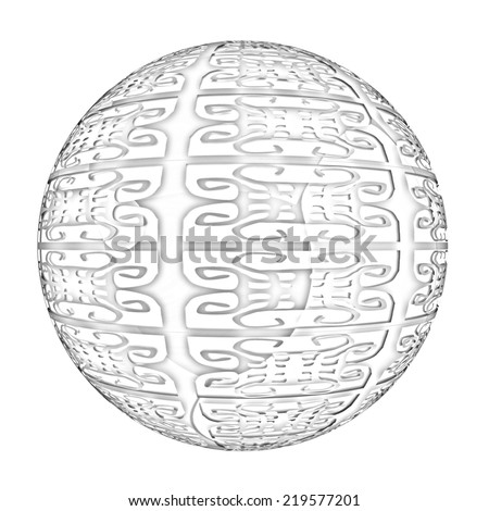Arabic abstract glossy geometric sphere