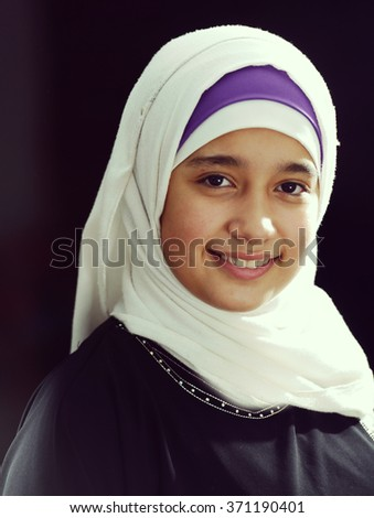 Arabic beautiful girl portrait