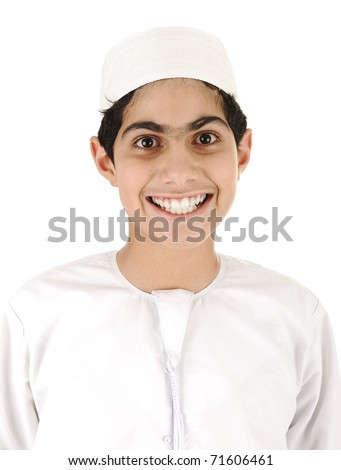 Arabic boy smiling