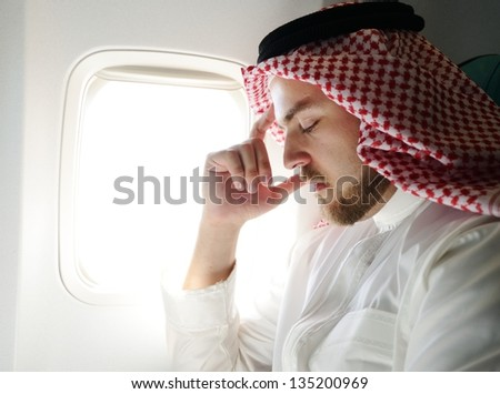 Arabic businessman stressed and depressed - stock photo