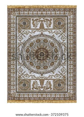 Arabic carpet isolated on white background  - stock photo