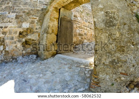 Arabic castle in Denia Spain - stock photo