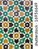 arabic ceramic tiles - stock photo