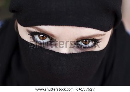 arabic eyes - stock photo
