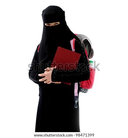 Arabic female student - stock photo