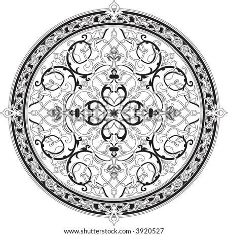 Arabic floral pattern motif Arabic floral pattern motif, based on Ottoman ornament. Raster version