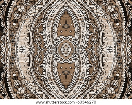 arabic fresco style ornament close up. More off this motif & more backgrounds in my port. - stock photo