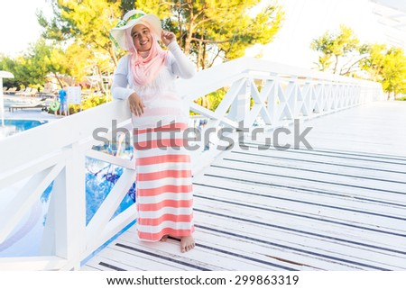 Arabic girl on summer vacation