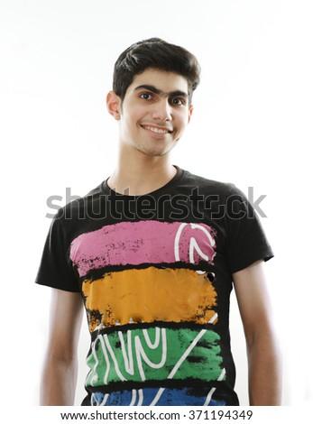 Arabic kid portrait - stock photo