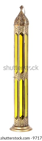 arabic lamp Isolated a White Background - stock photo