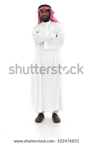 Arabic man standing - stock photo