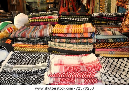 arabic scarfs - stock photo