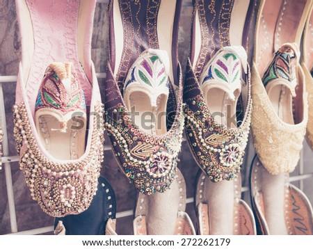 arabic shoes - stock photo