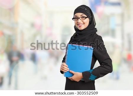 Arabic Student. - stock photo