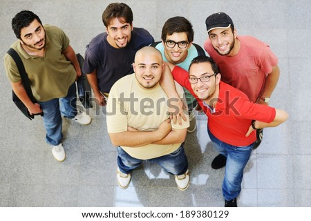 Arabic students posing at campus