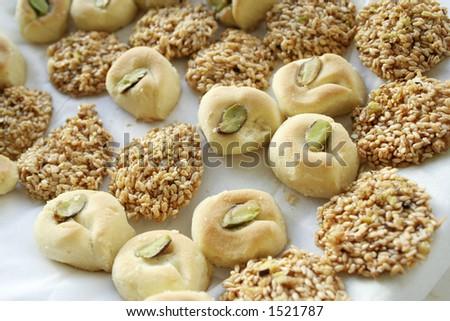 Arabic sweet pastries - stock photo