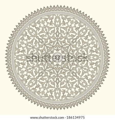 Arabic vintage seamless ornament for background design  - stock photo