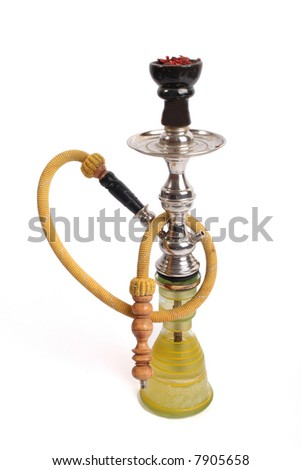 Arabic water-pipe with isolated background