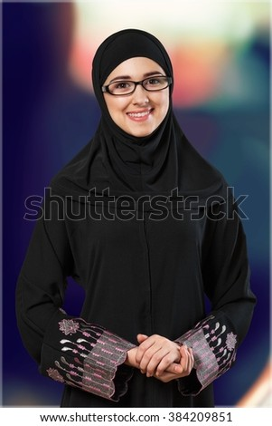 Arabic woman. - stock photo