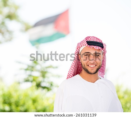 Arabic young people - stock photo