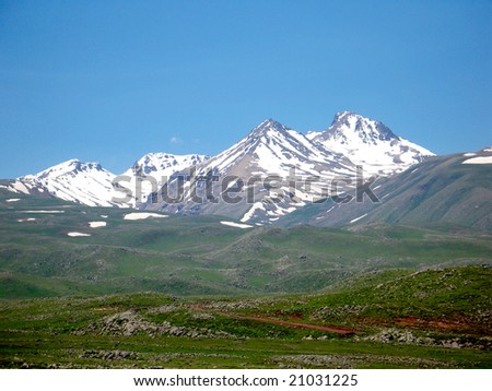 Aragats mountain in spring