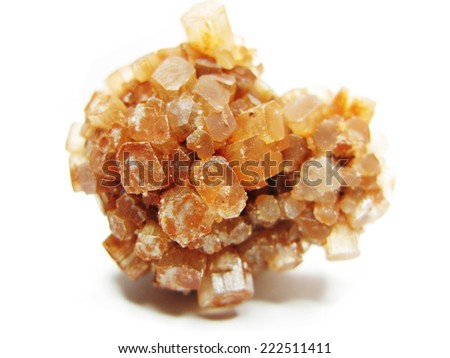 aragonite semigem geode crystals geological mineral isolated  - stock photo
