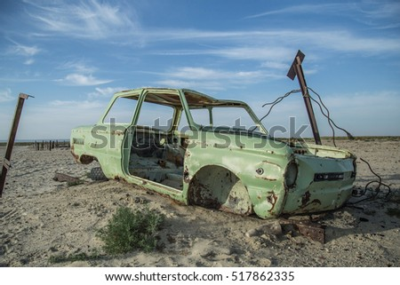Aral sea and desert