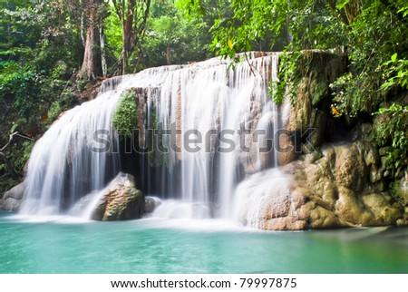 Arawan Waterfall - stock photo