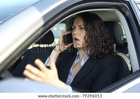 Arbeitsplatz Auto - stock photo