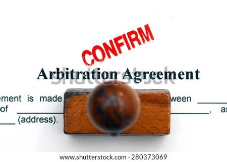Arbitration agreement - stock photo