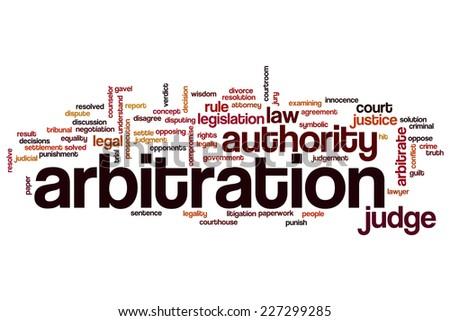 Arbitration word cloud concept - stock photo