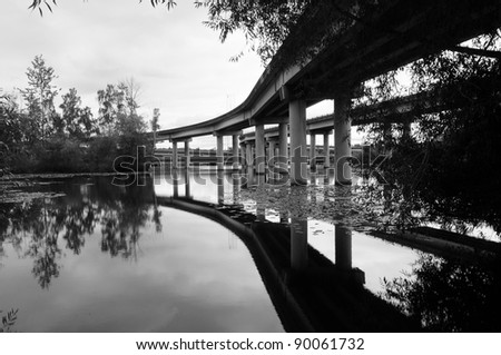 Arboretum Bridge - stock photo