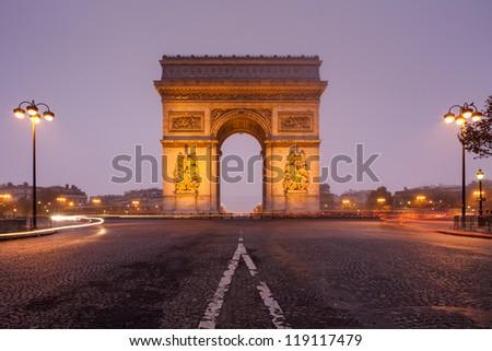 Arc de Tiomphe, Paris - stock photo