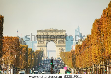 Arc de Triomphe de l'Etoile in Paris, France
