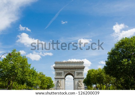 Arc de Triomphe in Paris - stock photo