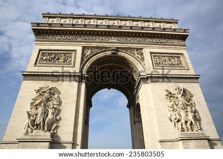 Arc de Triomphe in Paris. France - stock photo