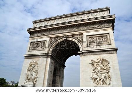 Arc de Triomphe in Paris, France - stock photo