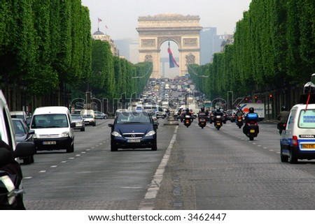 Arc de Triomphe located in Paris in France